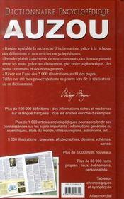 Dictionnaire encyclopédique auzou (édition 2008) - 4ème de couverture - Format classique