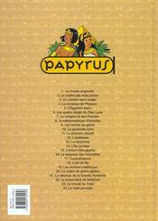 Papyrus t.24 ; la main pourpre - 4ème de couverture - Format classique