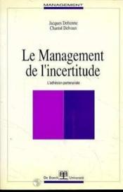 Management De L'Incertitude - Couverture - Format classique