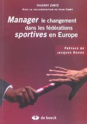 Manager Le Changement Dans Les Federations Sportives En Europe - Intérieur - Format classique
