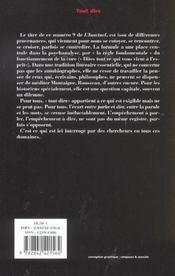 Revue L'Inactuel 09 - Tout Dire - 4ème de couverture - Format classique