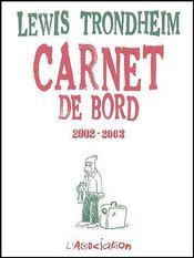 Carnet De Bord 4 (2002-2003) - Couverture - Format classique