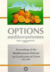 Proceedings of the mediterranean network on certification of citrus 1995-1997 - Couverture - Format classique