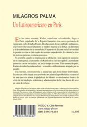 Un latinoamericano en paris - 4ème de couverture - Format classique