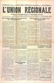 Union Regionale (L') N°1152 du 28/09/1940 - Couverture - Format classique