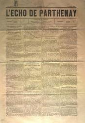 Echo De Parthenay (L') N°23 du 06/06/1880 - Couverture - Format classique