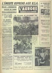 Aurore (L') N°7342 du 08/04/1968 - Couverture - Format classique