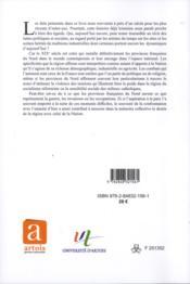 Histoire des provinces francaises du nord t5 - 4ème de couverture - Format classique