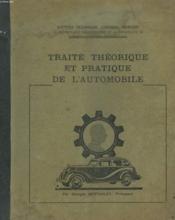 Traite Theorique Et Pratique De L'Automobile - Couverture - Format classique