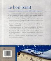 Le bon point ; guide complet des points de coutureet de broderie à la main - 4ème de couverture - Format classique