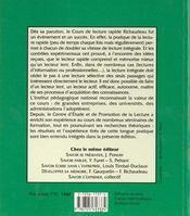 Lecture Rapide Richaudeau - 4ème de couverture - Format classique