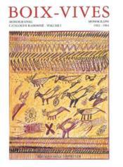 Boix-Vives Monographie Catalogue Raisonne 1962-1964 T1 - Couverture - Format classique