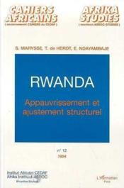 Rwanda Appauvrissement - Couverture - Format classique