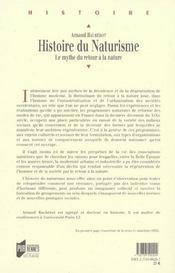 Histoire Du Naturisme - 4ème de couverture - Format classique