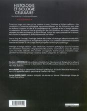 Histologie Et Biologie Cellulaire - 4ème de couverture - Format classique