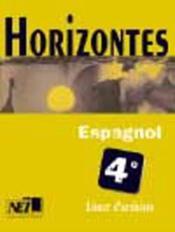 Horizontes, espagnol 4e / livret d'activites - Couverture - Format classique