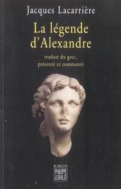 La Legende D'Alexandre - Intérieur - Format classique