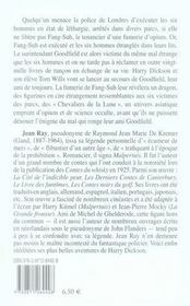 Harry Dickson t.18 ; les trois cercles de l'epouvante - 4ème de couverture - Format classique
