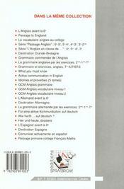 Grammaire anglaise par les exercices - 4ème de couverture - Format classique