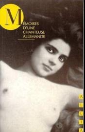 Memoires D'Une Chanteuse Allemande - Couverture - Format classique