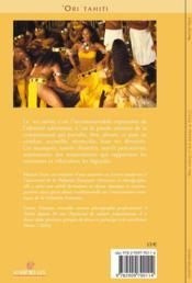 Ori tahiti - 4ème de couverture - Format classique