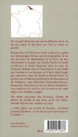 Balade dans le Nord ; sur les pas des écrivains (2e édition) - 4ème de couverture - Format classique