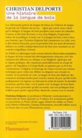 Une histoire de la langue de bois / Christian Delporte