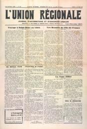 Union Regionale (L') N°1153 du 05/10/1940 - Couverture - Format classique