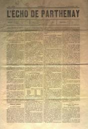Echo De Parthenay (L') N°46 du 14/11/1880 - Couverture - Format classique