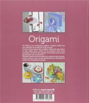 Origami & créations en papier - 4ème de couverture - Format classique