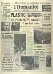 Humanite (L') N°5434 du 16/02/1962 - Couverture - Format classique