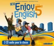 Vente livre :  NEW ENJOY ENGLISH ; 5e ; coffret ; CD audio pour la classe  - Odile Martin-Cocher