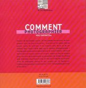 Comment Photographier Vos Enfants - 4ème de couverture - Format classique