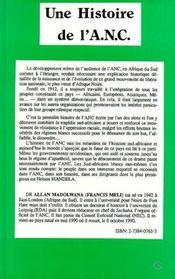 Histoire De L'A.N.C - 4ème de couverture - Format classique