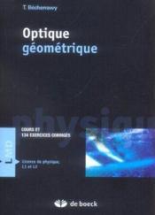 Optique geométrique - Couverture - Format classique