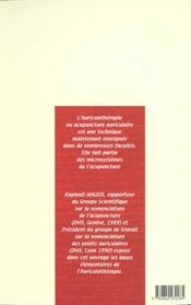 Auriculotherapie 1er Degre - 4ème de couverture - Format classique