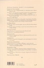 N 10-11 - 4ème de couverture - Format classique