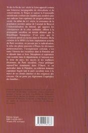 Les socialistes dans finistere (1905-2005) - 4ème de couverture - Format classique