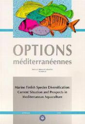 Marine finfish species diversification current situation and prospects in mediterranean aquaculture - Couverture - Format classique