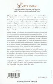Lettres Retenues ; Correspondances Censurees Des Deportes De La Commune En Nouvelle-Caledonie - 4ème de couverture - Format classique