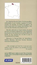 Balade en Pas-de-Calais ; sur les pas des écrivains - 4ème de couverture - Format classique