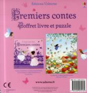 Premiers contes ; coffret ; livre et puzzle - 4ème de couverture - Format classique