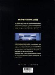 Secrets bancaires t.1.2 ; détournement de fonds - 4ème de couverture - Format classique