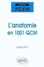 L'anatomie en 1001 QCM - Intérieur - Format classique