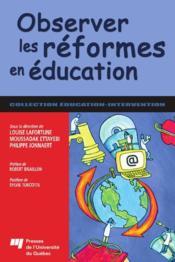 Observer les réformes en éducation - Couverture - Format classique