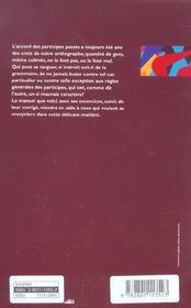 Savoir Accorder Le Participe Passe Regles, Exercices Et Corriges - 4ème de couverture - Format classique
