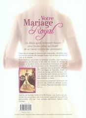 Votre Mariage Royal - 4ème de couverture - Format classique