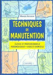Livre techniques de manutention eleve et professionnels - Livre technique cuisine professionnel ...