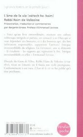L Ame De La Vie - 4ème de couverture - Format classique
