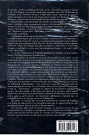 Histoire Generale De L'Afrique T5 L'Afrique Du Xvie Au Xviiie Siecle - 4ème de couverture - Format classique